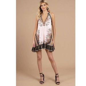 FREE PEOPLE STEAL THE SUN IVORY PRINTED DRESS